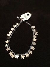 Ladies Adjustable Silver Colour Butterfly Anklet