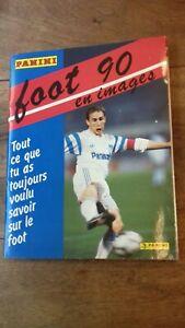 Album Panini Foot 1990 Championnat de France 90  D1 D2 quasi complet à 93%