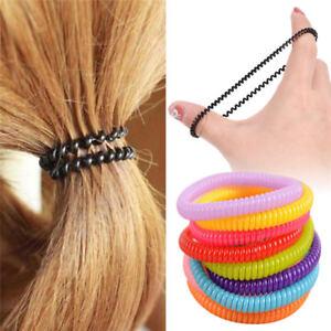 10Pcs Women Girls Hair Band Ties Rope Ring Elastic Hairband Ponytail Holder U L3