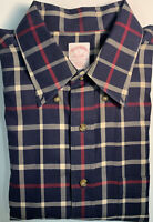 Brooks Brothers Button Down Blue/Red/Cream Plaid L/S Shirt Men's Large Nice!