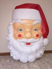 "HTF New Huge Christmas 34"" Santa Face Lighted Blow Mold Wall/Outdoor Decoration"