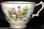 CROWN STAFFORDSHIRE ENGLAND EVANGELINE'S ARCADIAN GARDENS FOOTED CUP 8 OZ