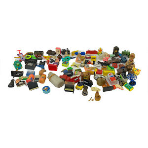 Lot of 99 Mixed Vintage Diecast & Plastic Pencil Sharpeners in Acceptable Shape