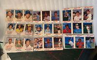 Lot of 9 Hostess Baseball 3 card Panels Milwaukee Brewers Robin Yount 1977 78 79