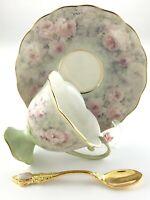 Teacup Saucer Blushing Beauty Lena Liu Precious Blossoms Bradford Exchange S605