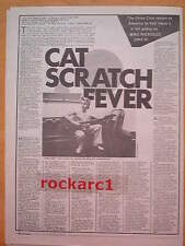 STRAY CATS (BRIAN SETZER) cat scratch fever UK ARTICLE / clipping