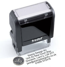 Personalised Garage Rubber Stamp Self Inking Excellent Service & History Etc