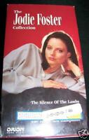 3 VHS Movies THE JODIE FOSTER COLLECTION Silence Lambs+