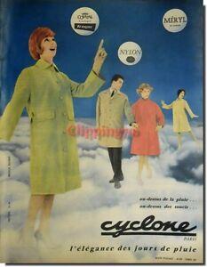 Publicité Advertising 1959 - CYCLONE Vêtements  -  (Advertising paper)