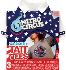 Nitro Circus Washable Tatt Tees-3 Temporary Transfers for Clothes (Set of 2)