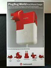 *NIB*TWELVE SOUTH PLUGBUG WORLD TRAVEL CHARGER/ADAPTER #12-1211*IPHONE,IPAD,MAC*
