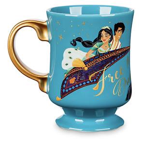 ALADDIN JASMINE TIGER Mug Disney Princess Teal LIMITED EDITION