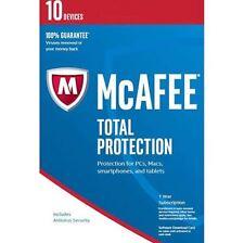 McAfee protezione totale 2018 utenti illimitati per 1 ANNO NUOVO & clienti esistenti