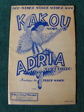 KAKOU (mambo) & ADRIA (mambo-bolero) partition de Teddy Maner eds Louis Maunier