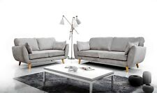 Zinc Grey Fabric Sofa Set 3+2+1 New Design DFS Soft Fabric Deep Seat Sofas Suite