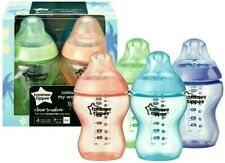 Tommee Tippee  Colour My World Bottles  4x  260ml  Unisex Colours  0m+  Bpa free