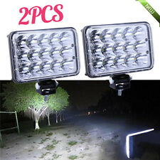 "PAIR 4""x6"" LED LIGHT BULB CRYSTAL CLEAR SEALED BEAM HEADLAMP HEADLIGHT IP68 MAX~"