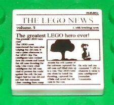 LEGO - Minifig, Utensil / Tile 2 x 2 - News Paper / The Lego News - White