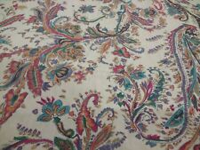 Chaps Prescott Red Floral Paisley Tablecloth 60x82