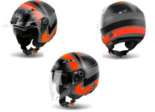 CASCO AIROH CITY ONE WRAP ORANGE MATT JET DOPPIA VISIERA TAGLIA M