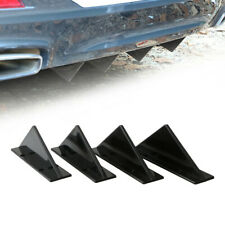 4pcs Black Triangle Car Rear Lower Bumper Diffuser Fin Spoiler Lip Wing Splitter