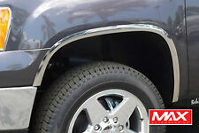 FTGM201 2007-2013 GMC Sierra 1500 Super POLISHED Stainless Steel Fender Trim