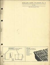 JOHN DEERE NO. 6 CORN SHELLER CYLINDER PARTS CATALOG
