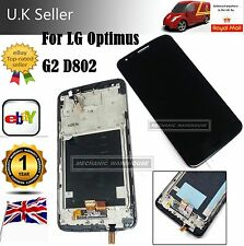 LCD Display Touch Screen Digitizer LG G2 D802 Optimus + Frame Black Replacement