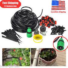 25m Dripper DIY Plant Self Watering Garden Hose Micro Drip Irrigation System Kit