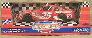 "ERTL American Muscle  ""Kenny Schrader "" #25 Budweiser Monte Carlo Nascar 1:18..."