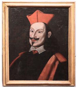 """Dipinto ad olio: """"Ritratto Cardinal Giovan Carlo de' Medici"""", Italia Sec. XVII"""