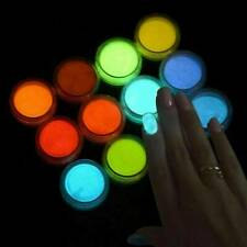 12Pcs Luminous Fluorescent Powder Pigment Dye UV Resin Epoxy For Making Jewelry