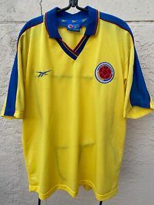 RARE REEBOK 1998 COLOMBIA NATIONAL TEAM SOCCER JERSEY SZ XL