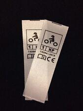 Etiquette norme CE a coudre pour gants de moto 1KP version basique