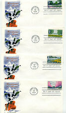 1365-68 Beautification of America, Jackson/Chickrering set of 4, FDCs