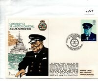 GB - MILITARY COVER - (2164) 1974 - Cent. Birth of Winston Churchill BFPS 1465