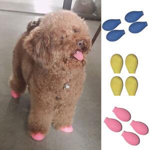 4PCS Dog Soft Rubber Waterproof Footwear Balloon Type Socks Rain Boots Dog Shoes