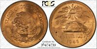 1946-Mo MEXICO 20 CENTAVOS BU UNCIRCULATED PCGS MS64RD ONLY 7 GRADED HIGHER