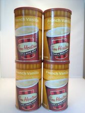 (4 CANS) TIM HORTON FRENCH VANILLA CAPPUCCINO 16 OZ. BEVERAGE MIX