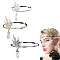 1920s Flapper Great Gatsby Headband Pearl Charleston Party Bridal Headpiece Lady