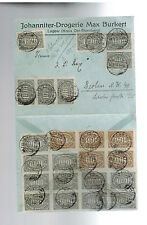 1923 Lagow Germany Inflation cover Drugstore to Berlin