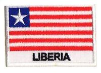 Patch insigne écusson patche drapeau LIBERIA 70x45mm brodé à coudre