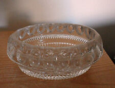 VICTORIAN GLASS OVAL SALT 10 CM X6.5CM. GOOD CONDITION. ROUGH RIM. NOT CHIPPED