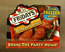 TGI FRIDAYS MAGNET BUFFALO WINGS CARD AD PROMO RESTAURANT NICE GIFT