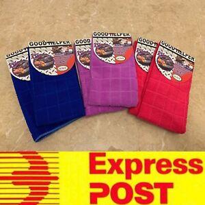 6pcs Big Size Micro Fiber Cloth Towels Special Kitchen Car Glass, Express Post