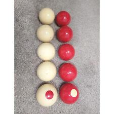 "Bumper Ball Set of 10 Aramith 2 1/8"" Standard Red White"