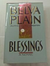 Belva Plain Blessings 1989 Hardcover Book with Dust jacket Pre Owned