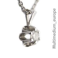 585er Weißgold Anhänger Diamant 0,16 ct white gold pendant diamond 14ct 585