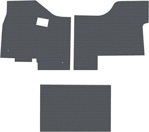 Kenworth T680/880 Gray  3PC All-Weather Rubber Floor Mats Lloyd's Custom Fit NEW
