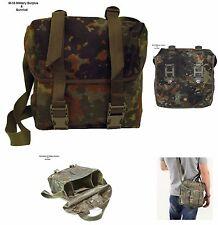 SHOULDER BREAD BAG WITH SHOULDER STRAP - GERMAN MILITARY - FLECKTARN CAMO - USED